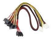 Комплект кабелей для подключения жестких дисков в сервер (4xSATA 22pin, 2xMolex, 4xSATA 7pin)