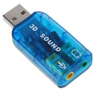 Звуковая карта USB TRUA3D (C-Media CM108) 2.0 channel out 44-48KHz (5.1 virtual channel) RTL