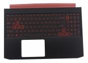 Клавиатура для ноутбука Acer Nitro 5 AN515-43 топкейс черный, клавиши черные с подсветкой