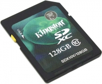Карта памяти SD 128Gb Kingston Class 10 / SDX10V/128GB