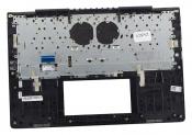Клавиатура для ноутбука Б/У ASUS UX450FDX топкейс синий, клавиши черные, с подсветкой / дефект