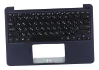 Клавиатура для ноутбука Б/У ASUS E200HA топкейс синий, клавиатура черная, без тачпада