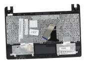 Клавиатура для ноутбука Asus X101, X101CH топкейс черный, клавиши черные, без тачпада