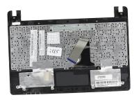 Клавиатура для ноутбука Asus X101, X101CH топкейс черный, черная клавиатура, без тачпада