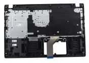 Клавиатура для ноутбука Acer Aspire 3 A315-21 топкейс черный, клавиши черные, без тачпада / УЦЕНКА