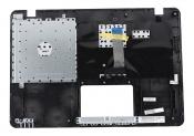 Клавиатура для ноутбука ASUS X442UA топкейс серо-синий, клавиши черные