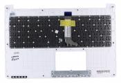 Клавиатура для ноутбука Asus X502CA топкейс белый, клавиши черные