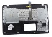 Клавиатура для ноутбука ASUS X751NV топкейс черный, клавиши черные / уценка