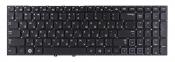 Клавиатура для ноутбука Samsung NP300E5A (15.6) черная без рамки