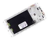 """Модуль для смартфона Б/У 5.5"""" ASUS ZenFone Max ZC550KL(8939) белый ORIGINAL с рамкой /хор состояние"""