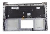 Клавиатура для ноутбука Б/У ASUS N501JW топкейс серебристый, клавиши серебристые, с подсветкой