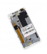 """Модуль для смартфона Б/У 5"""" Lenovo A5000 белый ORIGINAL с рамкой /хорошее состояние"""