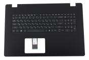 Клавиатура для ноутбука Acer Aspire 3 A317-52 топкейс черный, клавиши черные УЦЕНКА