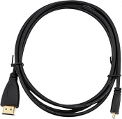 Кабель HDMI-micro BaseLevel 24GOLD, 1.8м