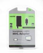 Кабель-переходник KRAULER microUSB(M)+HDMI(F) - MHL, длина 0.1м