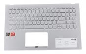 Клавиатура для ноутбука ASUS X512DA топкейс серебристый, клавиши серые, без тачпада УЦЕНКА