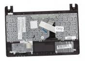 Клавиатура для ноутбука Asus X101, X101CH топкейс красный, клавиши черные, без тачпада