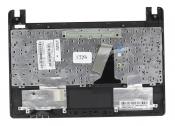 Клавиатура для ноутбука Asus X101, X101CH топкейс коричневый, клавиши черные, без тачпада