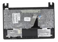 Клавиатура для ноутбука Asus X101, X101CH топкейс коричневый, черная клавиатура, без тачпада