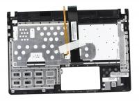 Клавиатура для ноутбука ASUS U47, U47A топкейс серый, клавиатура черная с подсветкой