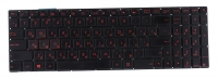 Клавиатура для ноутбука Б/У ASUS GL771JM черная с подсветкой