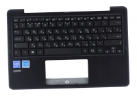Клавиатура для ноутбука Б/У ASUS E205SA топкейс синий, клавиатура черная, без тачпада