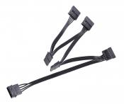 Кабель-переходник питания MOLEX 4 pin -> 5x SATA 15 pin