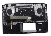 Клавиатура для ноутбука Б/У ASUS GL503VM топкейс черный, клавиши черные, с подсветкой