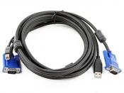 Кабель для переключателя KVM DLink DKVM-CU5 USB/VGA (M/M) (5м)