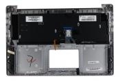 Клавиатура для ноутбука ASUS N501JW топкейс серебристый клавиши серые, без тачпада, с подсветкой