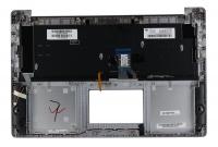 Клавиатура для ноутбука ASUS N501JW топкейс серебристый клавиатура серая, без тачпада, с подсветкой