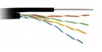Кабель UTP категории 5e (медь) для внешней прокладки с тросом, 1 метр / BL-UTP-004-5e-CU-PE-M
