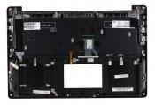 Клавиатура для ноутбука ASUS N501JW ROG топкейс черный, клавиши черные, без тачпада, с подсветкой