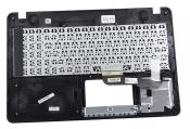 Клавиатура для ноутбука ASUS X541NA топкейс серый, клавиши черные