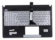 Клавиатура для ноутбука ASUS X501U топкейс розовый, клавиши черные