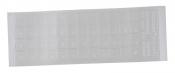 Наклейки на клавиатуру прозрачные (бесцветный фон, буквы белые)