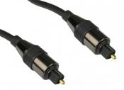Кабель соединительный TOSlink-TOSlink оптоволоконный цифровой (для передачи звука) 1 метр