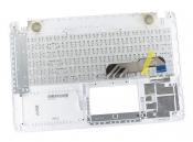 Клавиатура для ноутбука ASUS X541NA топкейс белый, клавиши белые / уценка