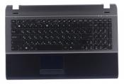 Клавиатура для ноутбука ASUS U53JC топкейс темно-серый, клавиши черные