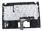 Клавиатура для ноутбука Acer Aspire A114-31 топкейс черный, клавиши черные, без тачпада