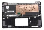 Клавиатура для ноутбука ASUS UX430UQ топкейс серый, клавиши черные, с подсветкой