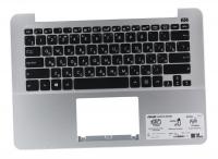 Клавиатура для ноутбука Б/У ASUS X302U топкейс серый, клавиатура черная, без тачпада