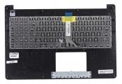Клавиатура для ноутбука Asus X502CA топкейс черный, клавиши черные